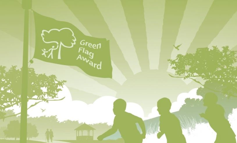 CAERPHILLY WOODLANDS TRUST WINNING GREEN FLAG RECOGNITION